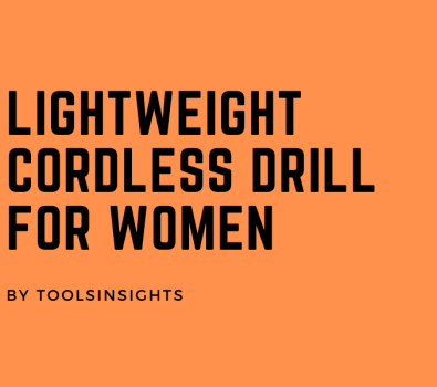Lightweight Cordless Drill for Women